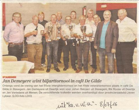 Intergildentornooi Stasegem 25 - 06 - 2016